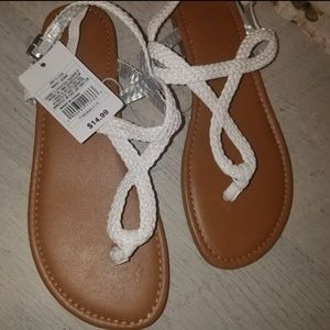 2 pairs of brand new sandals girls size 4